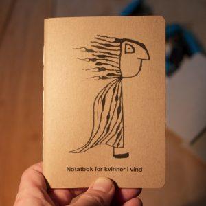 notatbok for kvinner i vind